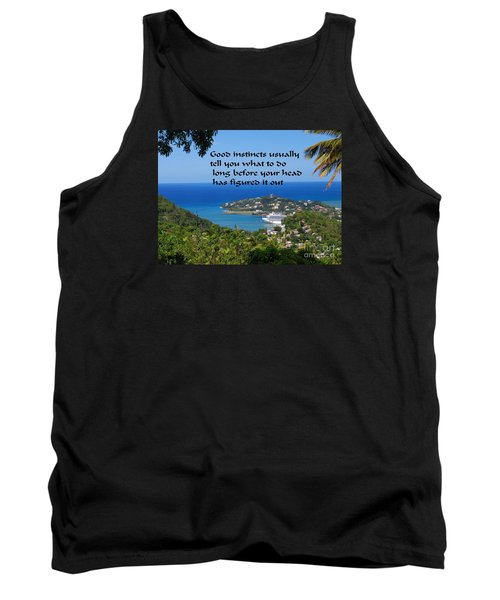 Tank Top featuring the photograph Instincts by Gary Wonning