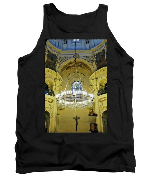 Interior Evening View Of St. Nicholas Church In Prague Tank Top