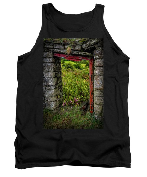 Tank Top featuring the photograph Into The Magical Irish Countryside by James Truett