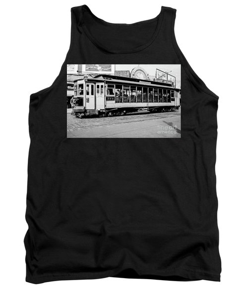 Tank Top featuring the photograph Inwood Crosstown Trolley  by Cole Thompson