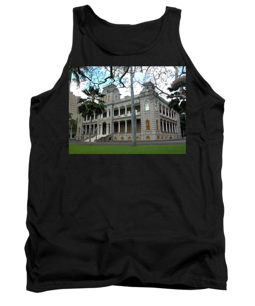 Tank Top featuring the photograph Iolani Palace, Honolulu, Hawaii by Mark Czerniec