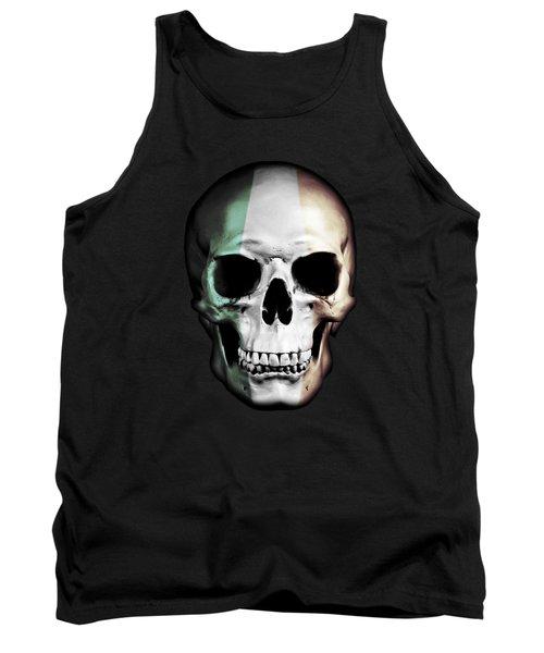 Tank Top featuring the digital art Irish Skull by Nicklas Gustafsson