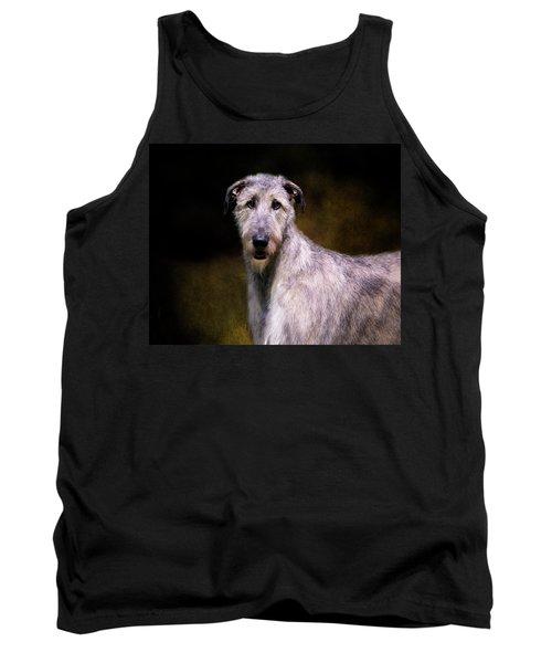 Irish Wolfhound Portrait Tank Top