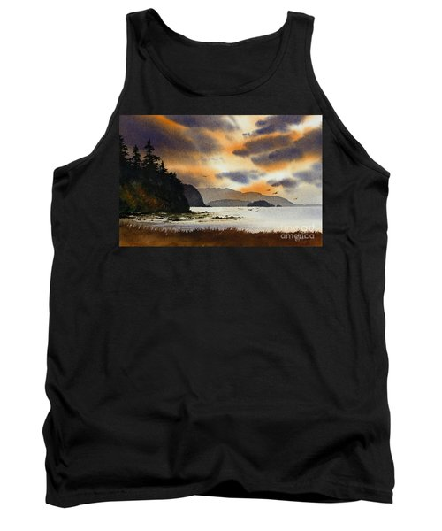 Tank Top featuring the painting Islands Autumn Sky by James Williamson