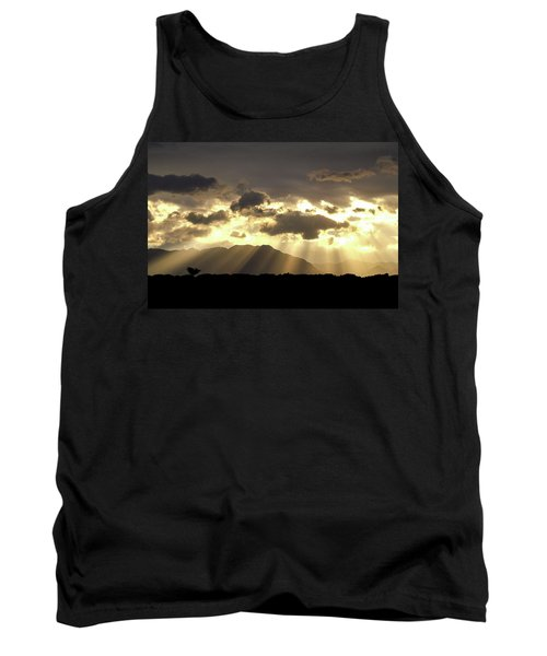 Tank Top featuring the photograph Israeli Desert Sunrise At Timna by Yoel Koskas