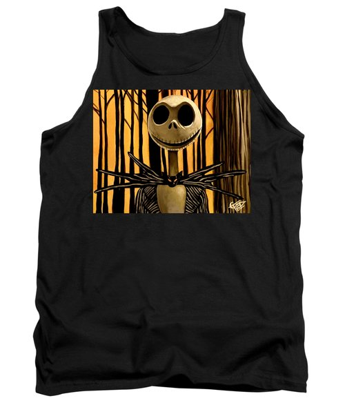 Jack Skelington Tank Top by Tom Carlton
