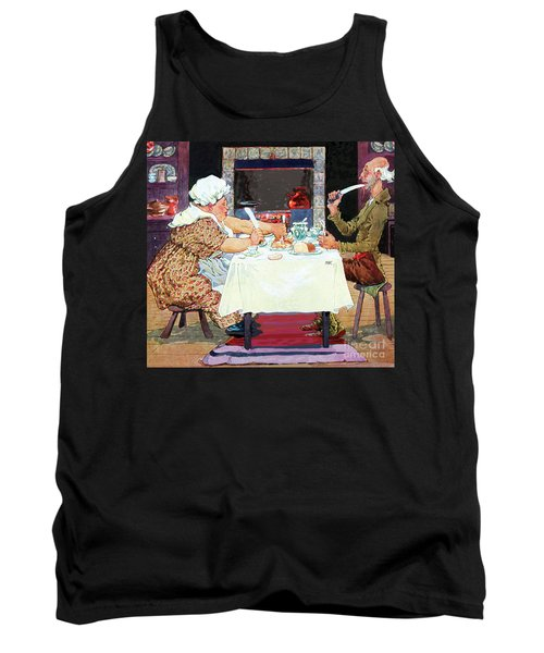 Tank Top featuring the painting Jack Sprat Vintage Mother Goose Nursery Rhyme by Marian Cates