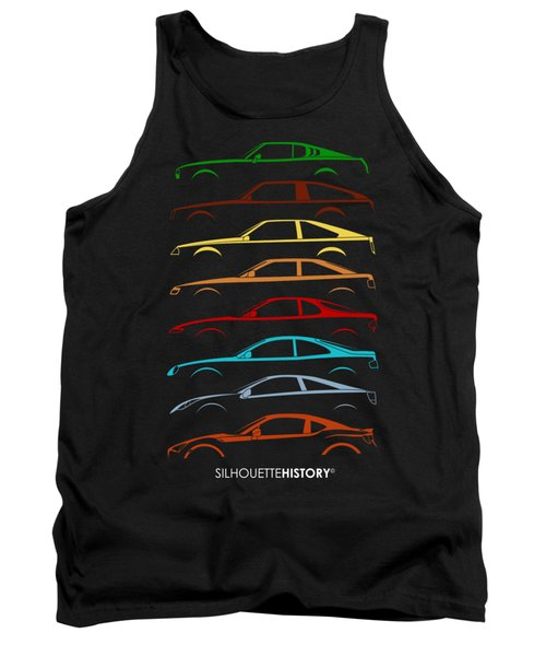 Japanese Coupe Silhouettehistory Tank Top