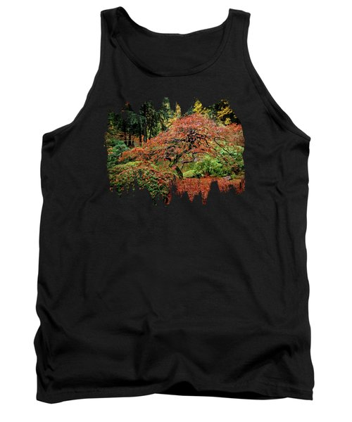 Tank Top featuring the photograph Japanese Maple At The Japanese Gardens Portland by Thom Zehrfeld