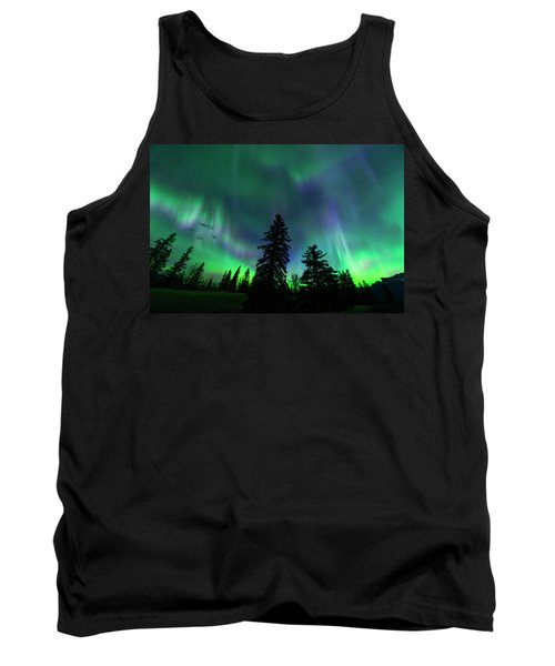 Tank Top featuring the photograph Jasper National Park Aurora by Dan Jurak
