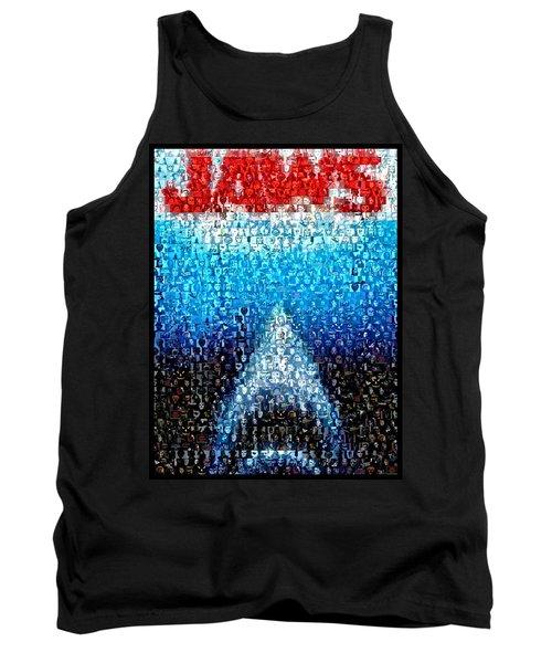 Jaws Horror Mosaic Tank Top