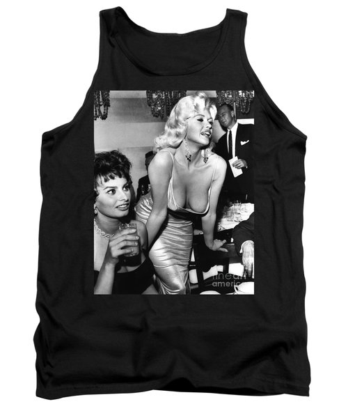 Jayne Mansfield Hollywood Actress And, Italian Actress Sophia Loren 1957 Tank Top