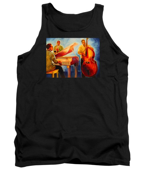 Tank Top featuring the painting Jazz Night by Emery Franklin