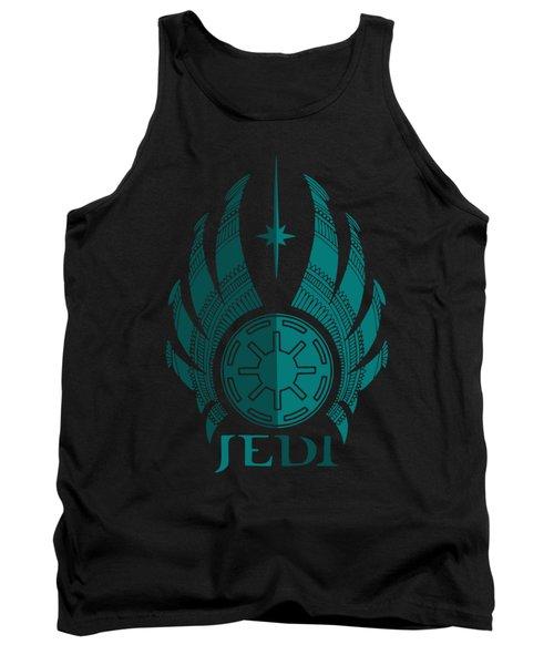 Jedi Symbol - Star Wars Art, Blue Tank Top