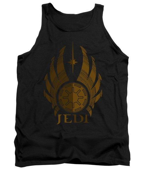 Jedi Symbol - Star Wars Art, Brown Tank Top