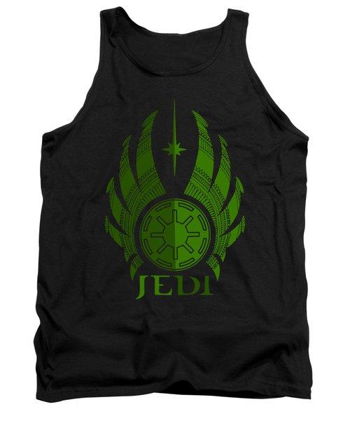 Jedi Symbol - Star Wars Art, Green Tank Top