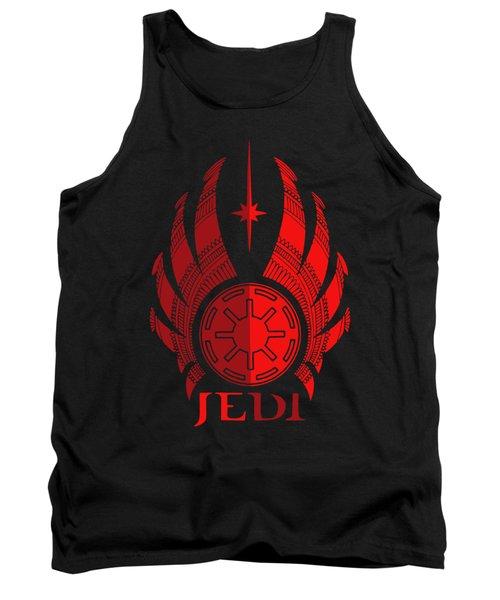 Jedi Symbol - Star Wars Art, Red Tank Top