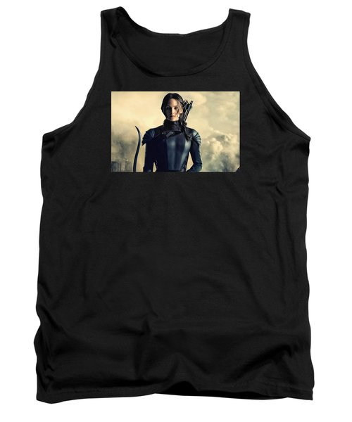 Jennifer Lawrence The Hunger Games  2012 Publicity Photo Tank Top