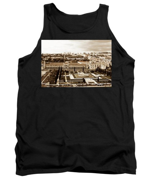 Tank Top featuring the photograph Jeronimos Monastery In Sepia by Lorraine Devon Wilke