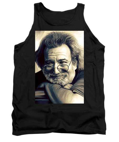 Jerry Garcia Artwork  Tank Top