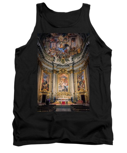 Tank Top featuring the photograph Jesuit Church Rome Italy by Joan Carroll