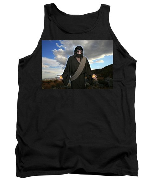 Jesus Christ- And He Withdrew Himself Into The Wilderness And Prayed Tank Top