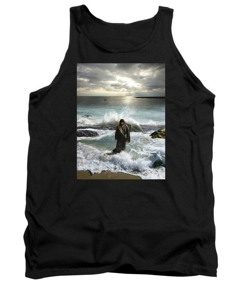 Jesus Christ- I Have Come As A Light Into The World Tank Top
