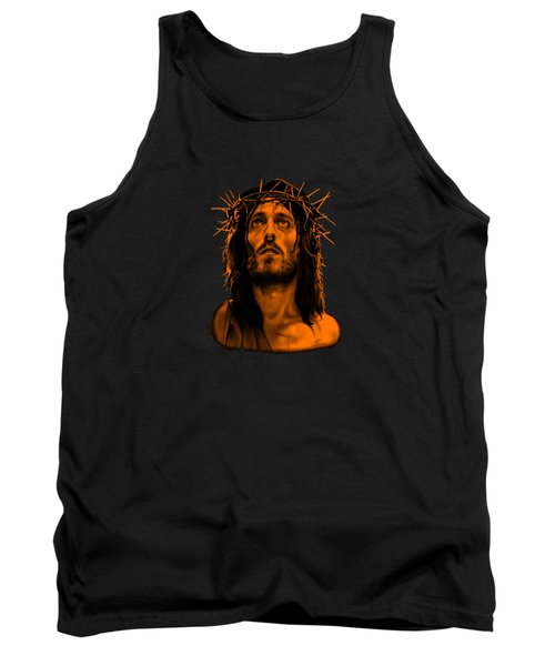Tank Top featuring the drawing Jesus Christ Our Savior  by Movie Poster Prints