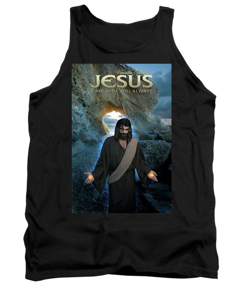 Jesus- I Am With You Always Tank Top