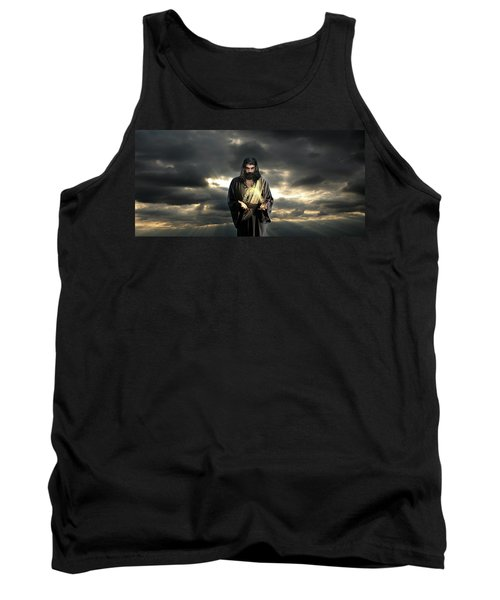 Jesus In The Clouds Tank Top