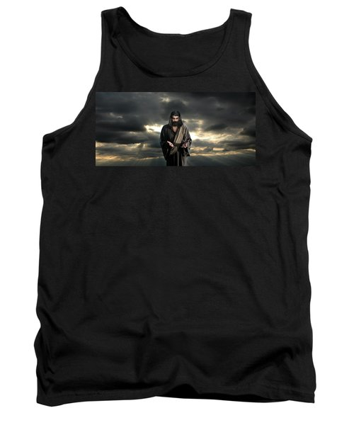 Jesus In The Clouds With Glory Tank Top