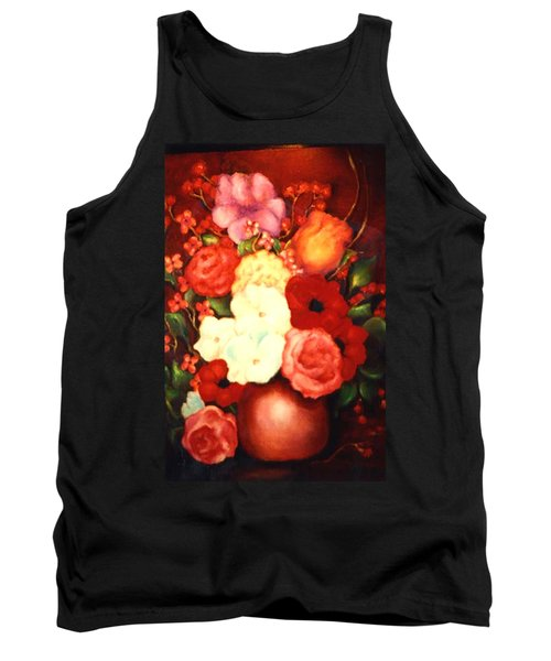 Jewel Flowers Tank Top