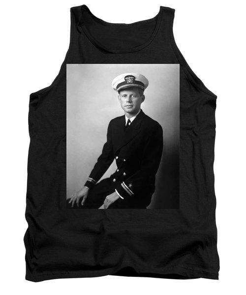 Jfk Wearing His Navy Uniform Painting Tank Top