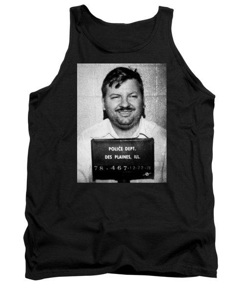 John Wayne Gacy Mug Shot 1980 Black And White Tank Top