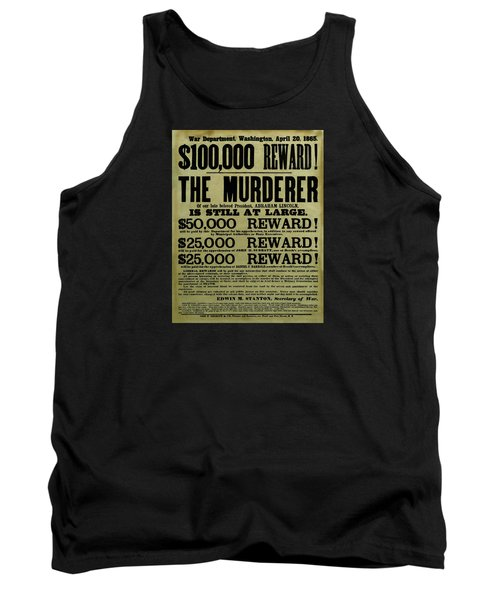 John Wilkes Booth Wanted Poster Tank Top