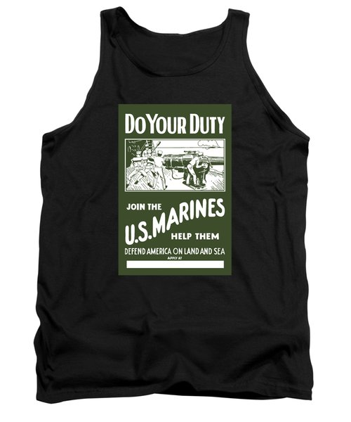 Join The Us Marines Tank Top