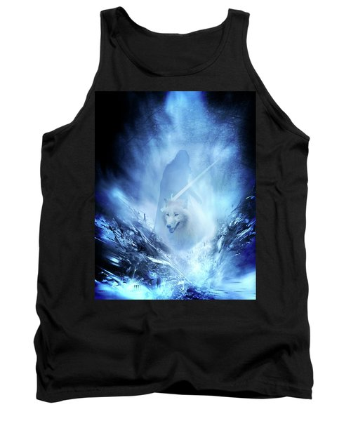 Jon Snow And Ghost - Game Of Thrones Tank Top by Lilia D