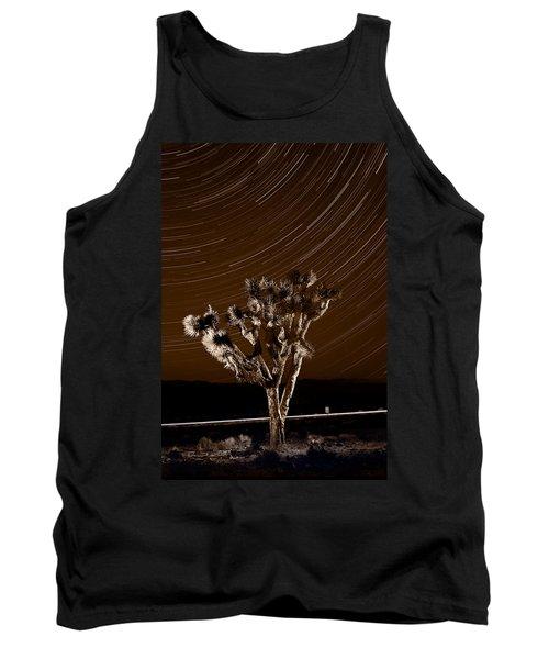 Joshua Tree Night Lights Death Valley Bw Tank Top