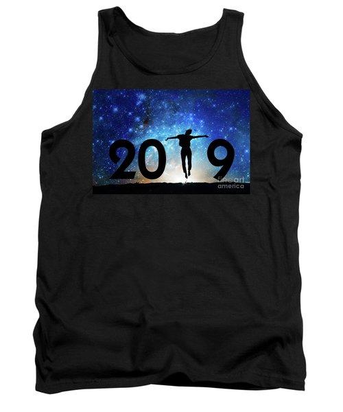 Jump New Year Card Tank Top