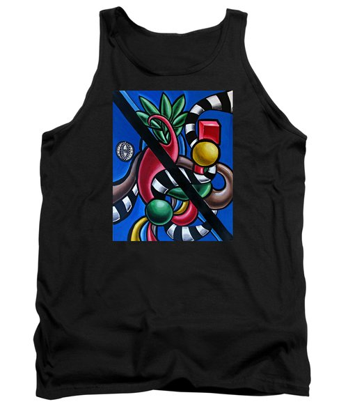 Jungle Stripes 1 - Abstract Painting Tank Top