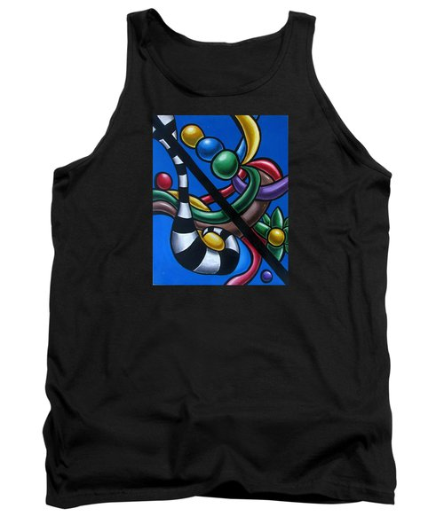 Jungle Stripes 3 - Abstract Paintings Tank Top