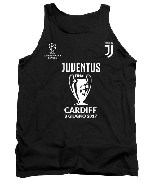 Juventus Final Champions League Cardiff 2017 Tank Top by Ipoy Juki