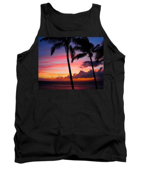 Kaanapali Sunset  Kaanapali  Maui Hawaii Tank Top by Michael Bessler