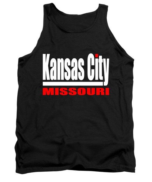 Kansas City Missouri - Tshirt Design Tank Top by Art America Gallery Peter Potter
