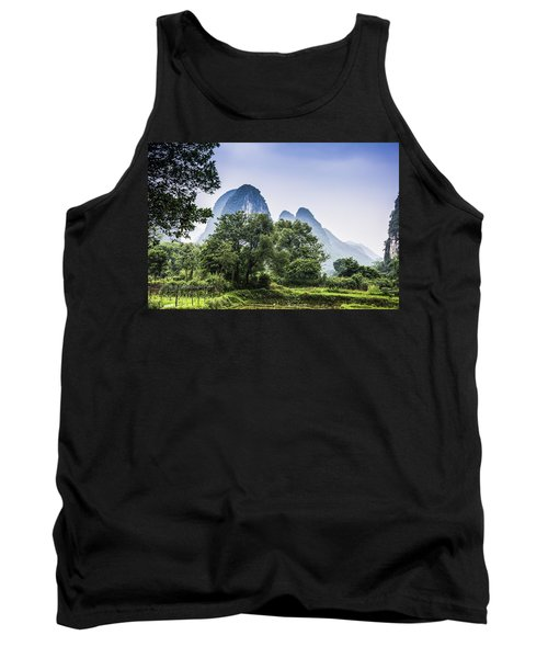 Karst Rural Scenery In Spring Tank Top