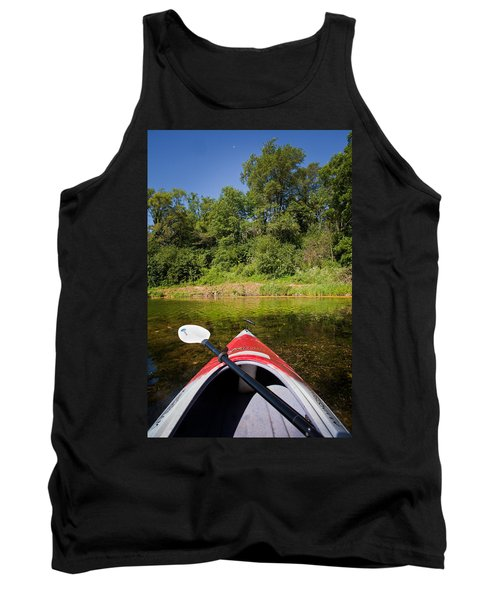 Kayak On A Forested Lake Tank Top