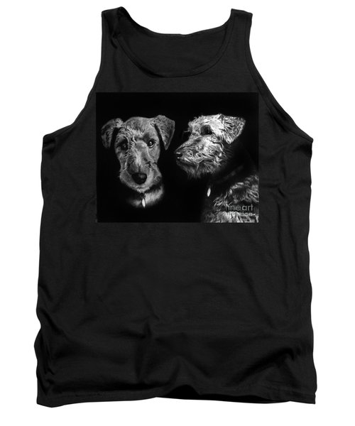 Tank Top featuring the drawing Keeper The Welsh Terrier by Peter Piatt