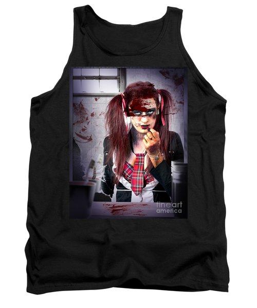 Killer School Girl In A Murder Cover Up Tank Top
