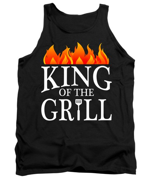 King Of The Grill Pun Bbq Barbecue Gift Tank Top