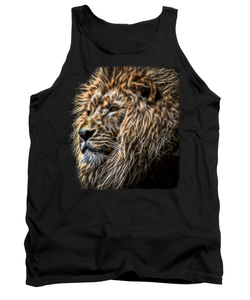 King Of The Jungle - Fractal Male Lion Tank Top
